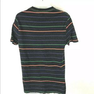 Vintage Shirts - Vintage 80's / 90's Striped Tee Neon Vaporwave M